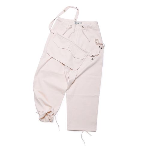 Dublin Cozy Wide Pants + Penny Bag(Ivory)